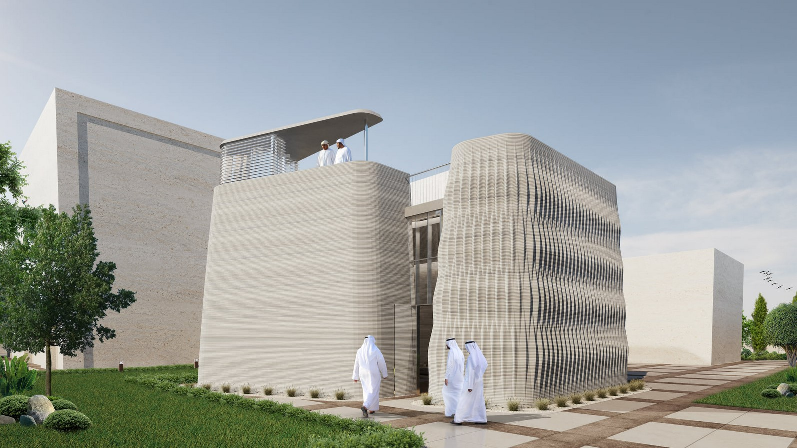 Modular 3D-Printed Majlis House With Smooth Concrete Walls In Abu Dhabi designed by MEAN* - Sheet8