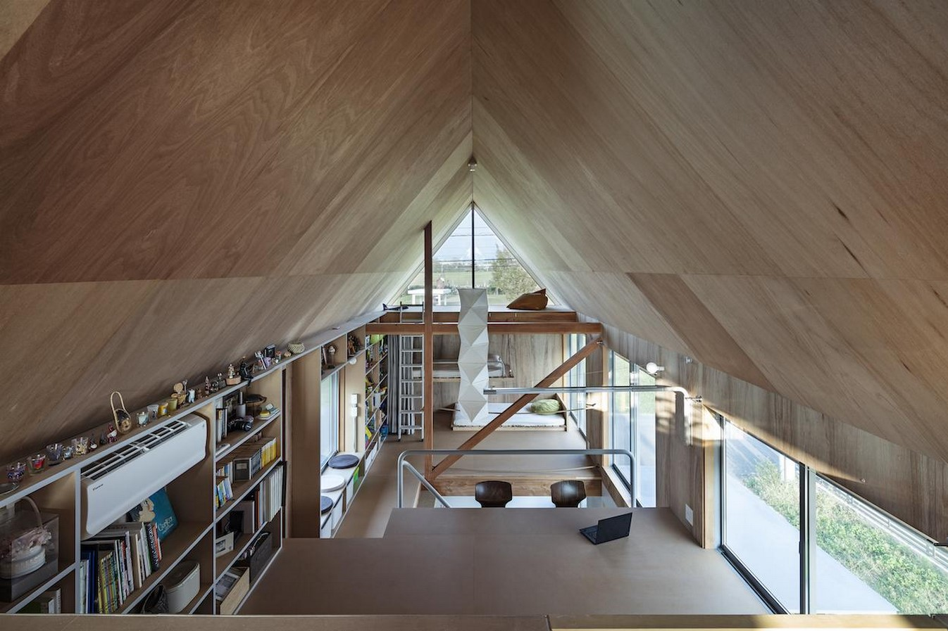 House in field' containing variety of living spaces beneath its gable roof designed by Ship Architecture - Sheet4