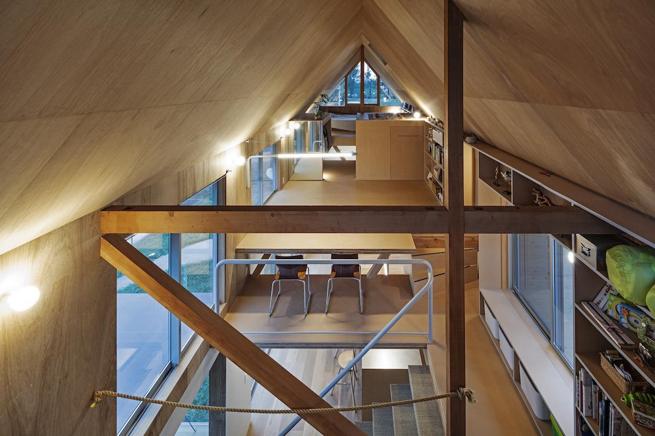 House in field' containing variety of living spaces beneath its gable roof designed by Ship Architecture - Sheet5