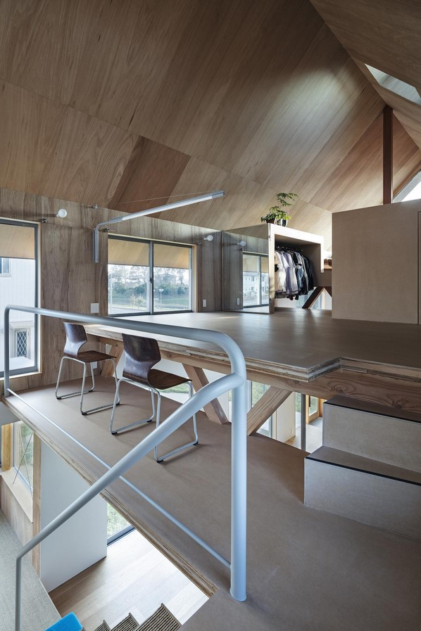 House in field' containing variety of living spaces beneath its gable roof designed by Ship Architecture - Sheet6