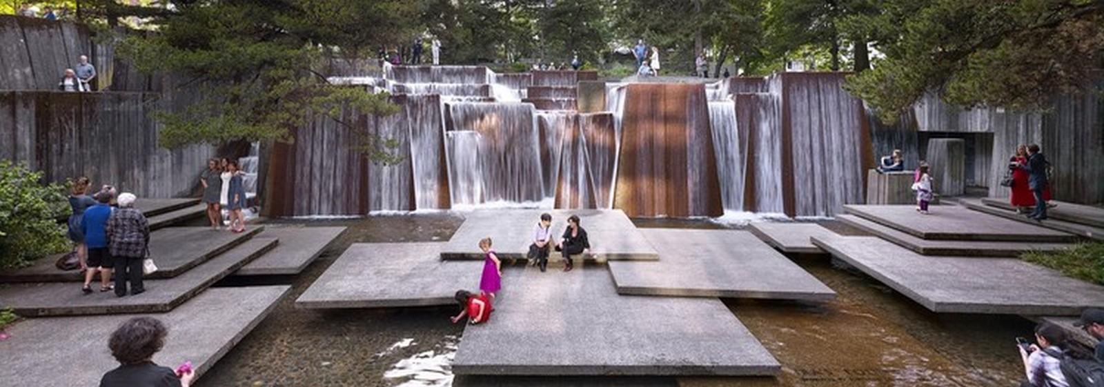Keller Fountain Park in Portland, Oregon. - Sheet1