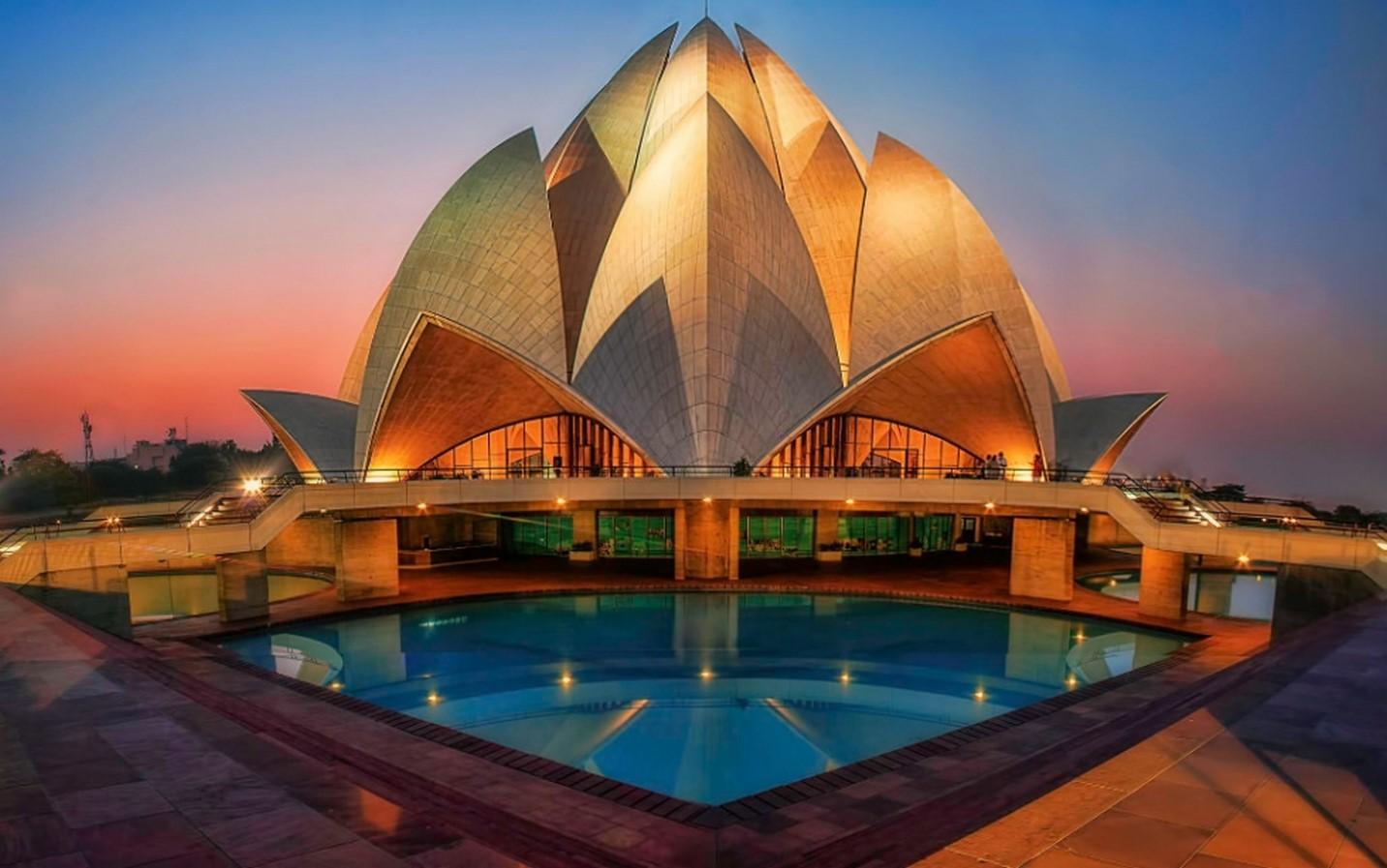 Lotus Temple in New Delhi, India. - Sheet1