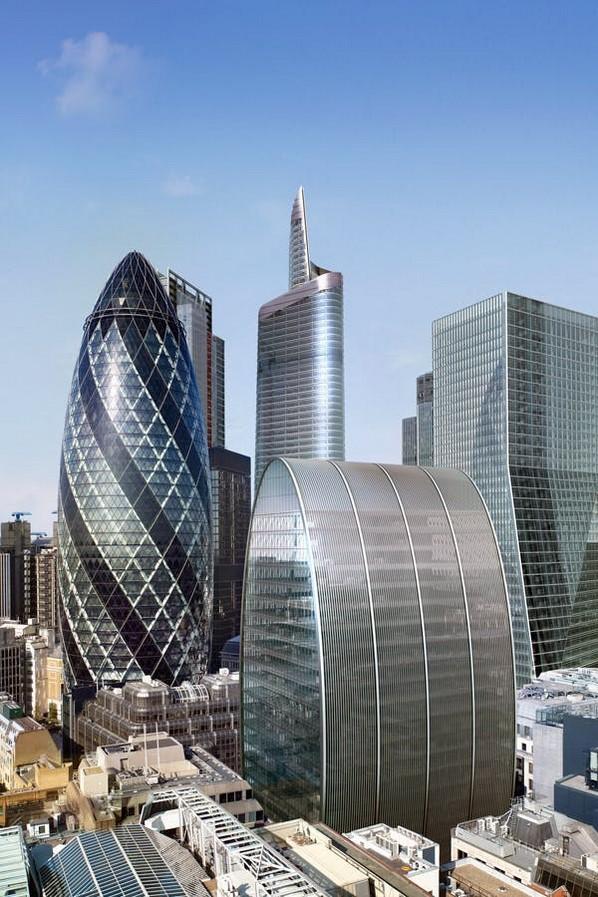 The Gherkin in London, United Kingdom. - Sheet1