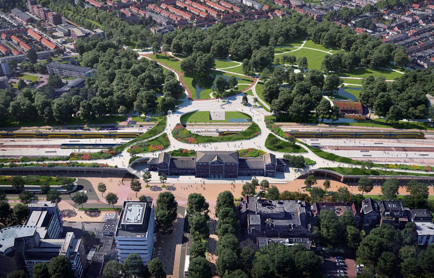 An Expansive Railway Zone in Holland's Oldest City reimagined by Mecanoo - Sheet4