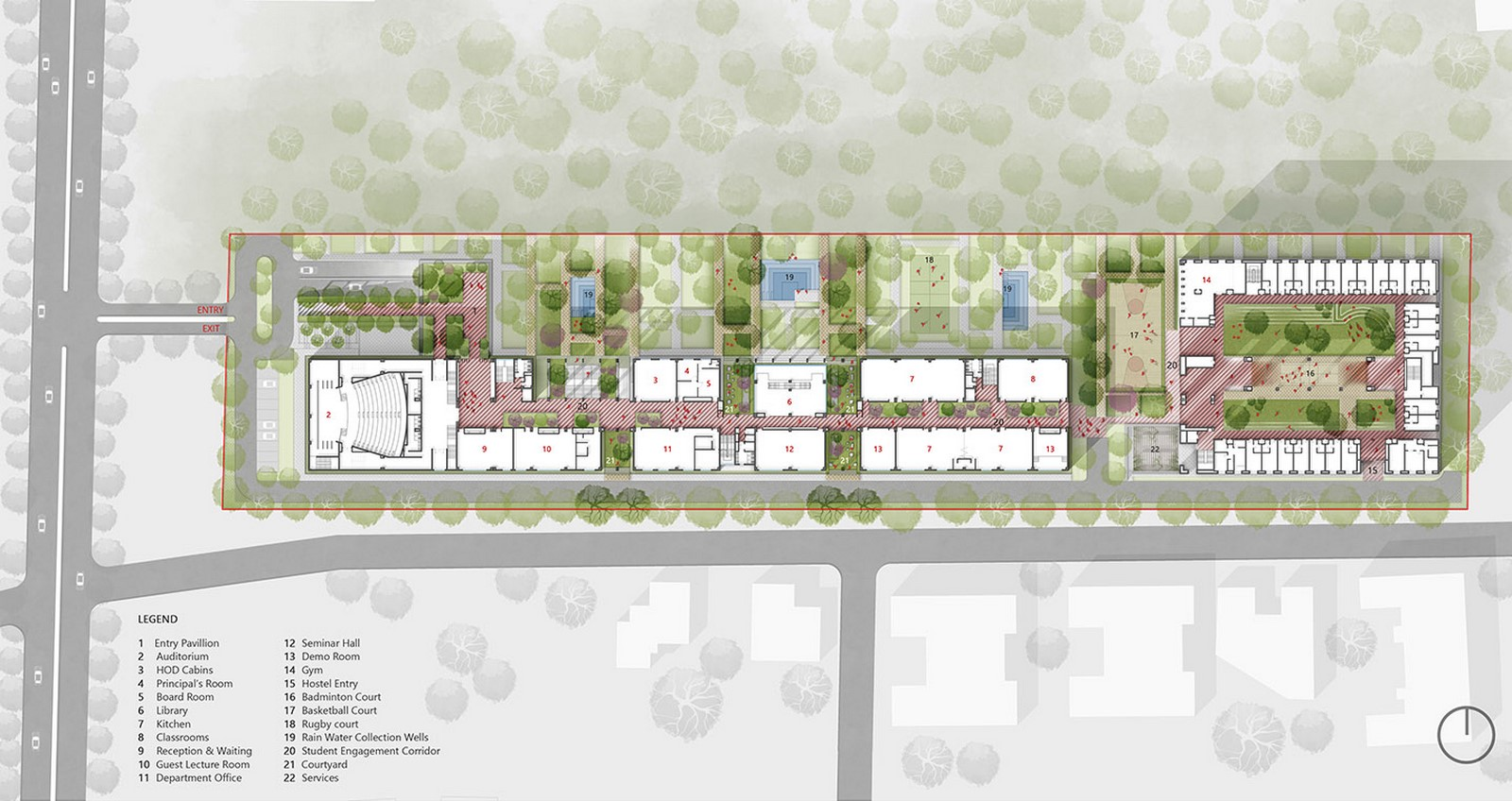 The Lalit Suri Hospitality School by Morphogenesis: In cohabitation with nature - Sheet2