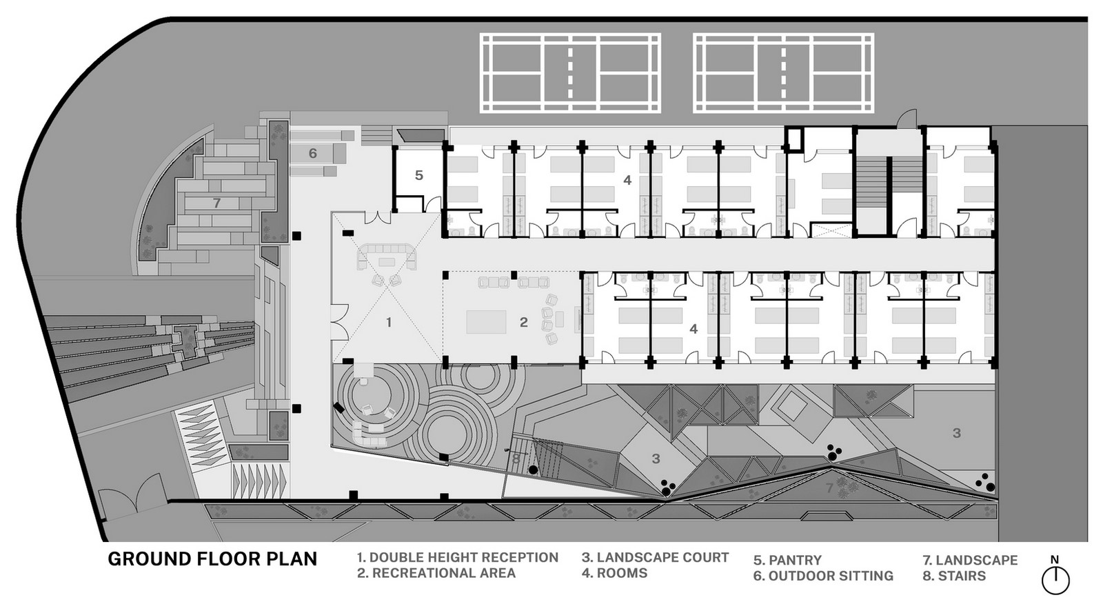 Girls' Hostel Featuring Free-Standing Façade In Gurugram built by Zero Energy Design Lab - Sheet3