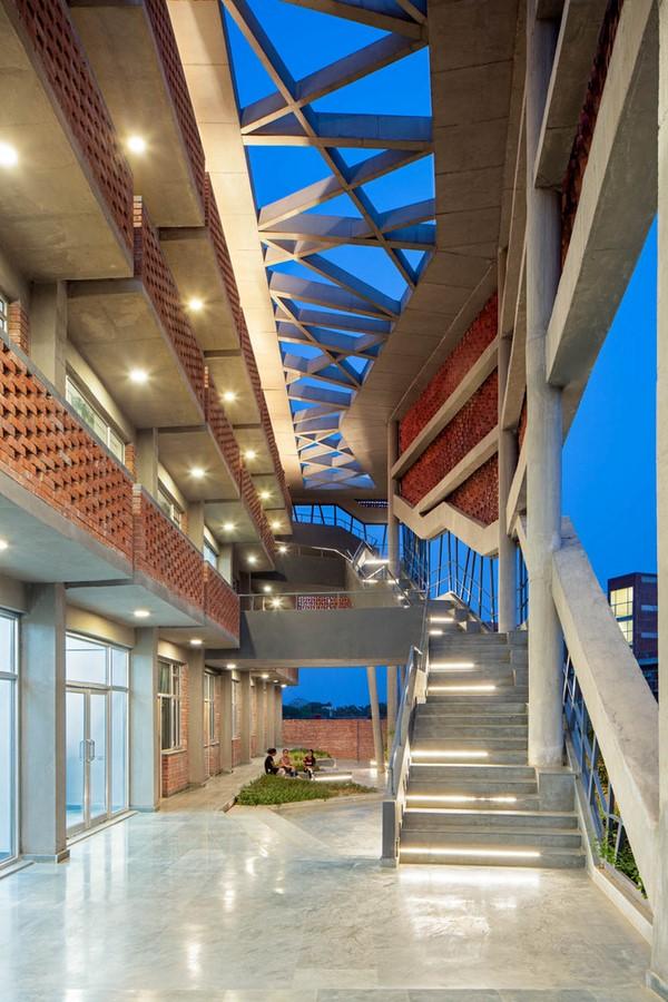 Girls' Hostel Featuring Free-Standing Façade In Gurugram built by Zero Energy Design Lab - Sheet4