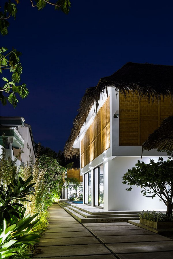 Tropical Holiday House with Woven Sliding Panels - Sheet1