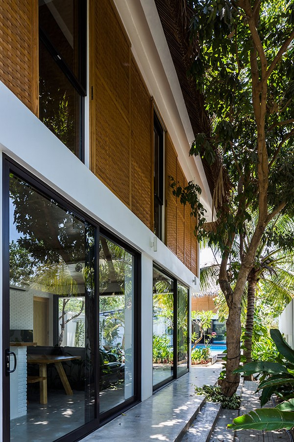 Tropical Holiday House with Woven Sliding Panels - Sheet2