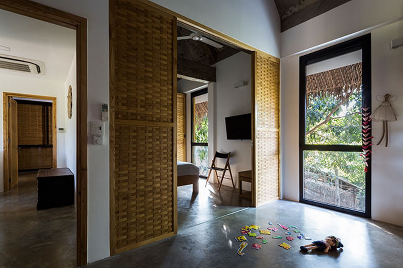 Tropical Holiday House with Woven Sliding Panels - Sheet3