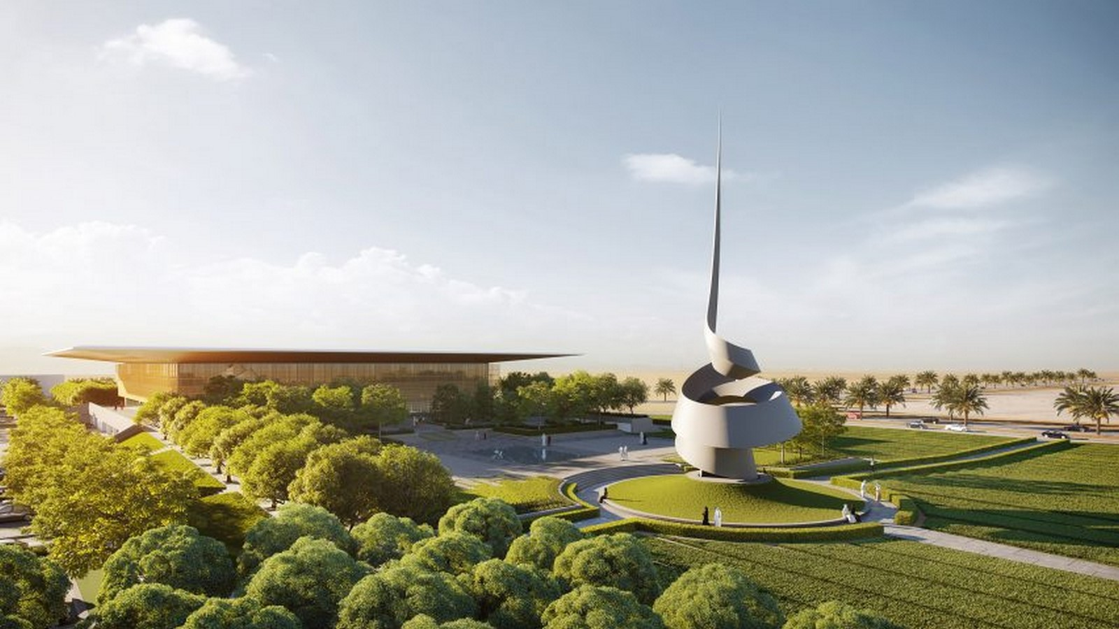 New Library And Culture Centre With Large Floating Roof In Sharjah completed by Foster + Partners - Sheet1
