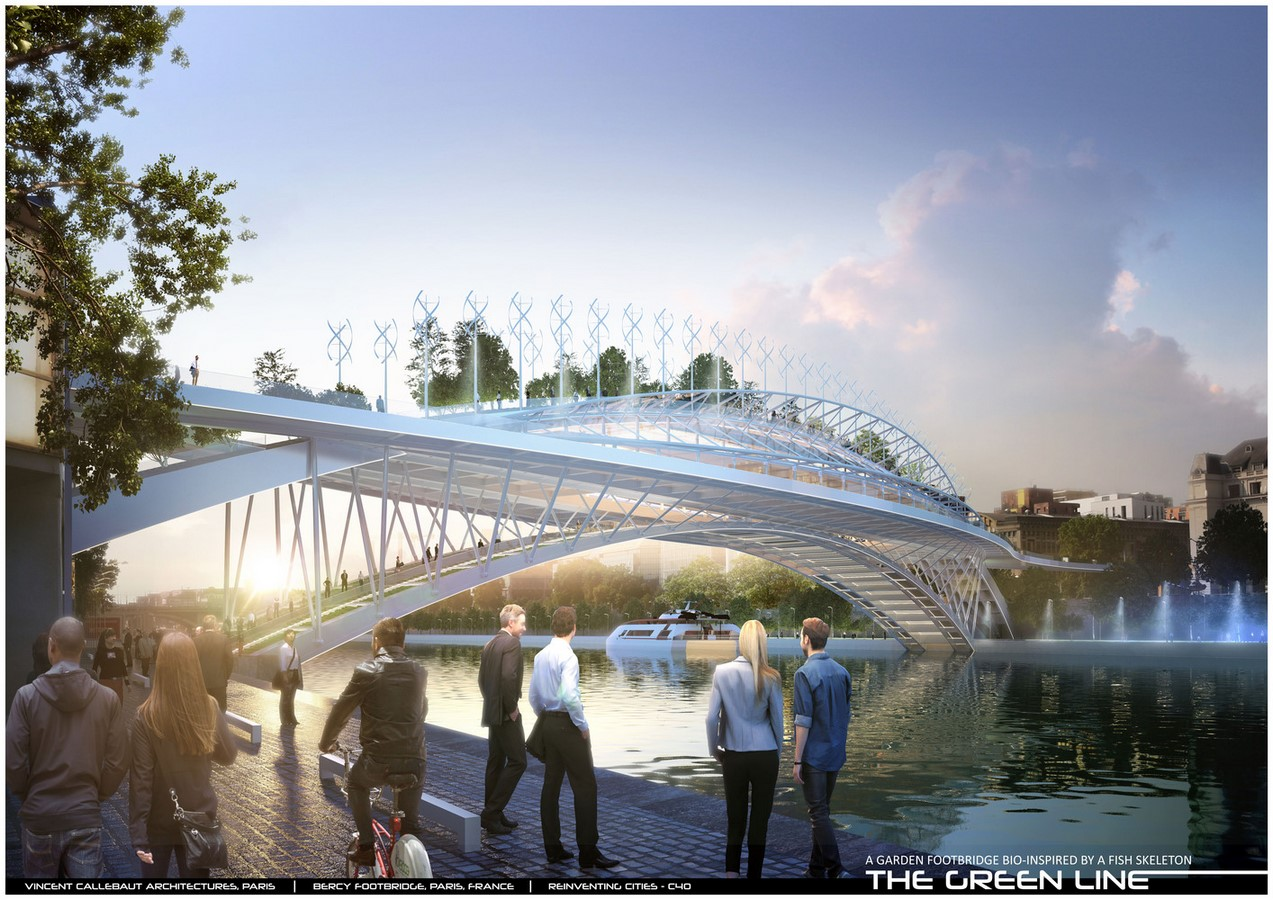 Design For Garden Footbridge Bio-Inspired By Fish Skeleton revealed by Vincent Callebaut Architectures - Sheet2