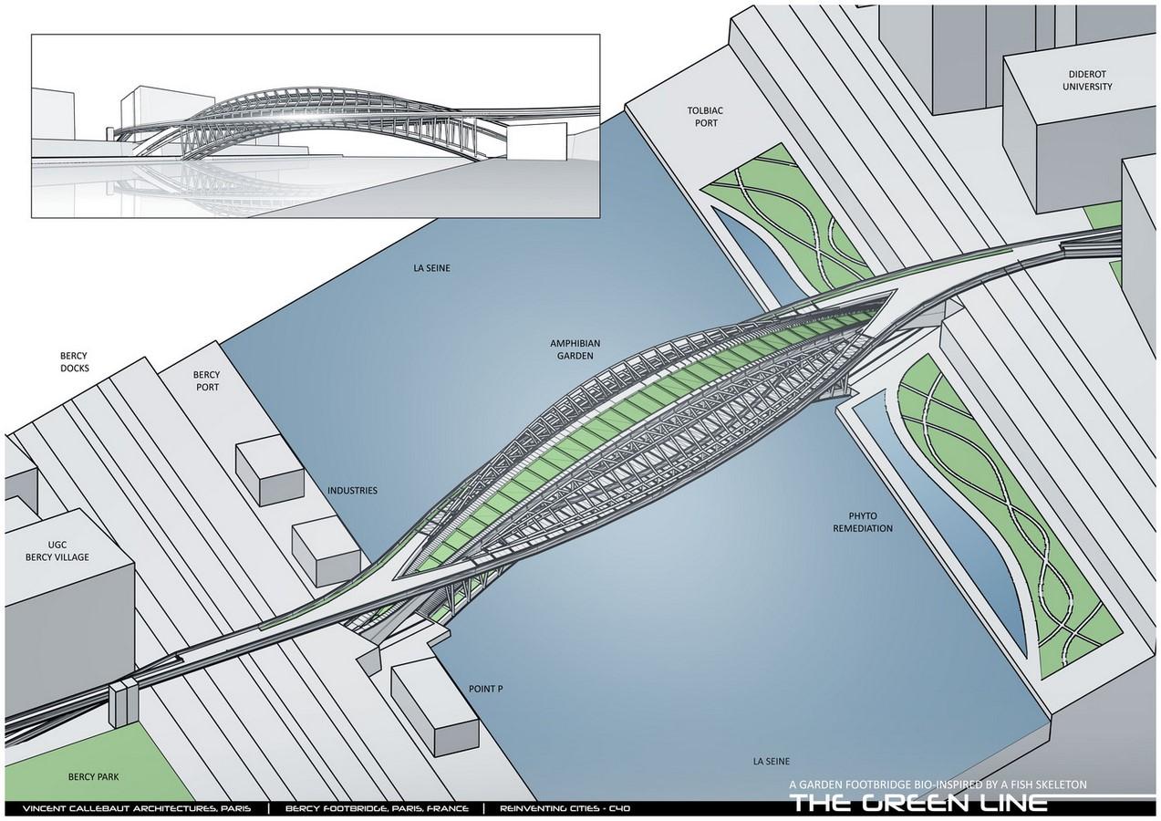 Design For Garden Footbridge Bio-Inspired By Fish Skeleton revealed by Vincent Callebaut Architectures - Sheet6