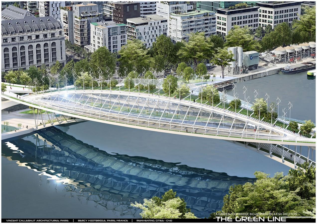 Design For Garden Footbridge Bio-Inspired By Fish Skeleton revealed by Vincent Callebaut Architectures - Sheet7