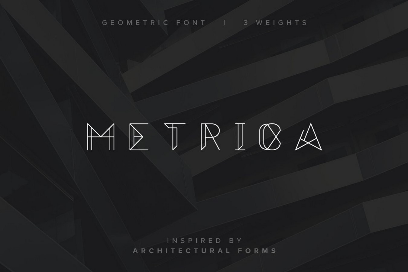 Fonts for Architects -Metrica Font - Sheet1