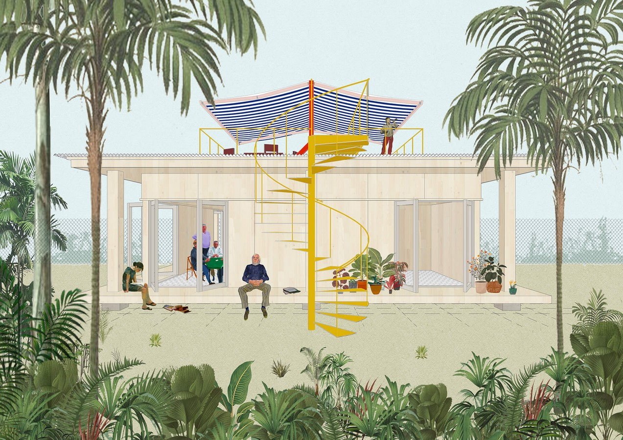 """Prefabricated """"Pebble House"""" For The Los Angeles Accessory Dwelling Units Scheme proposed by SO-IL - Sheet5"""