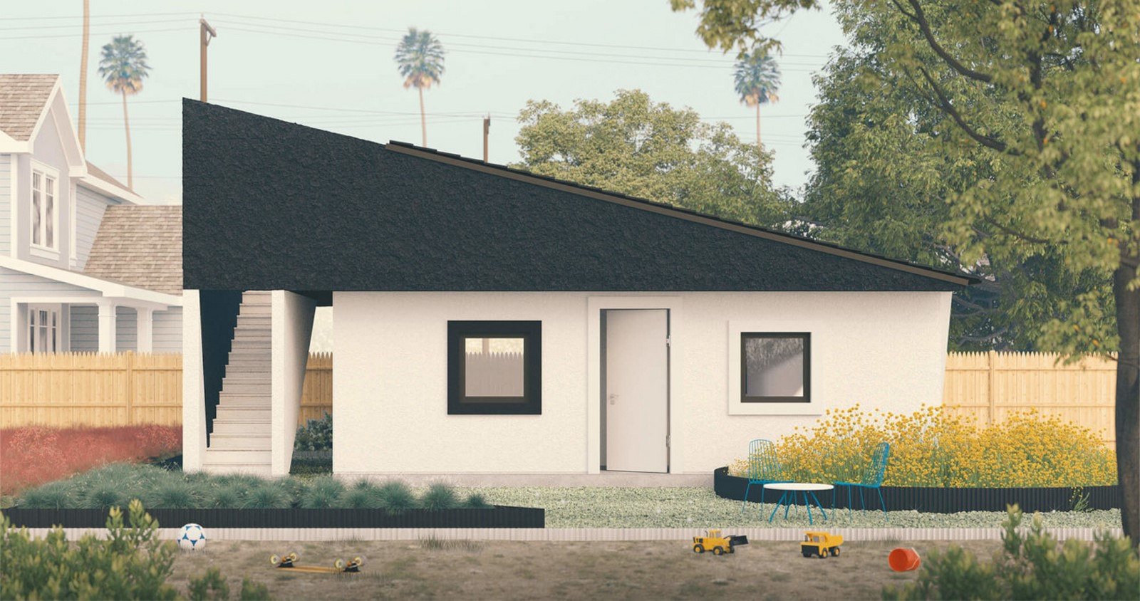 """Prefabricated """"Pebble House"""" For The Los Angeles Accessory Dwelling Units Scheme proposed by SO-IL - Sheet6"""
