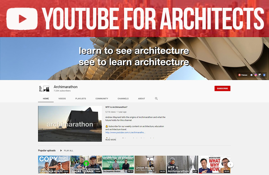 Youtube for Architects: Archimarathon's 9 Rules For Architecture Travel Planning and Why It Matters