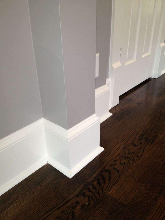 Wall trimmings, Baseboards, and crown moldings (cornice) - Sheet2