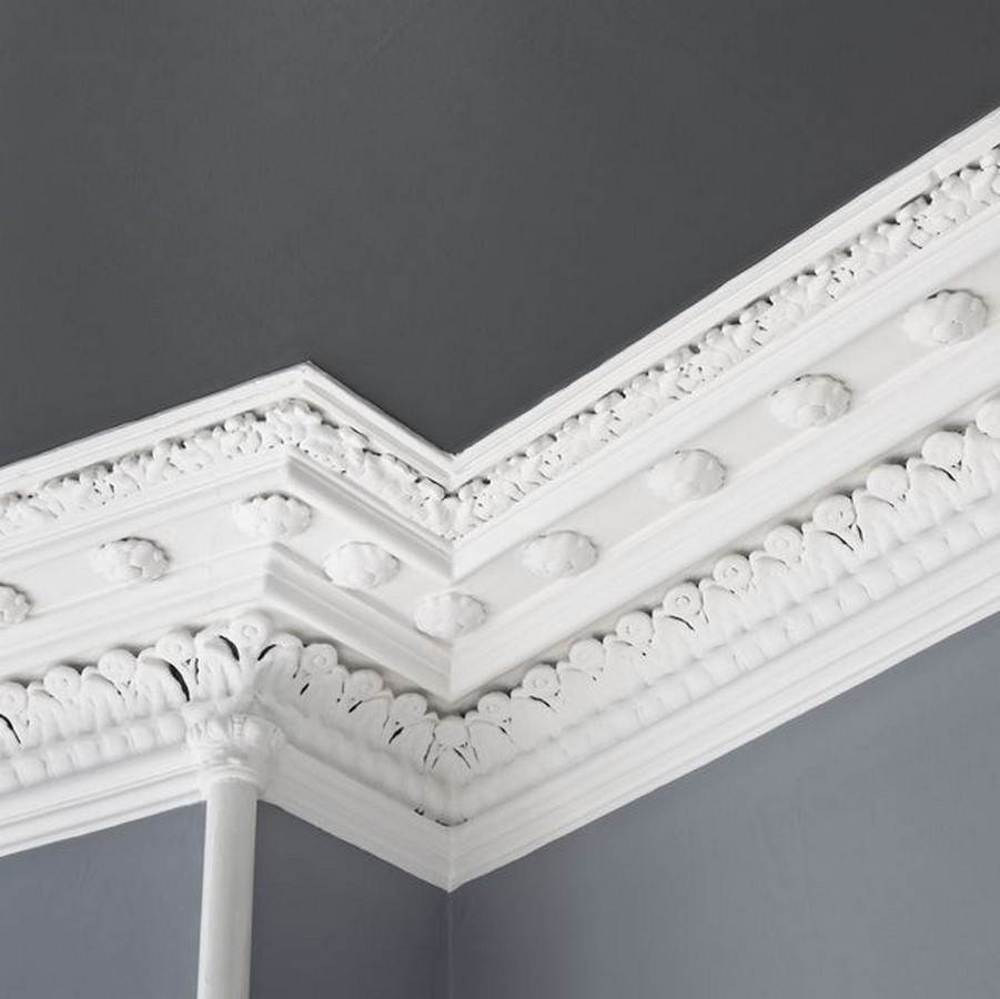 Wall trimmings, Baseboards, and crown moldings (cornice) - Sheet3