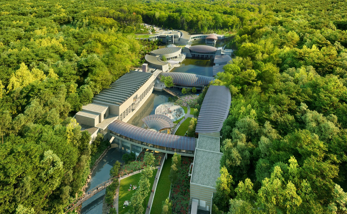 Crystal Bridges Museum Of American Art In Bentonville expansion plans revealed by Safdie Architects - Sheet1