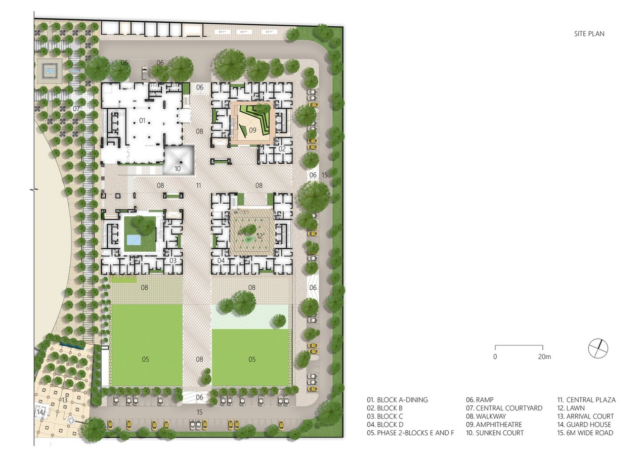 Housing Complex at Institute for Integrated Learning in Management by Morphogenesis- Inspired by Shahjahanabad settlement - Sheet1