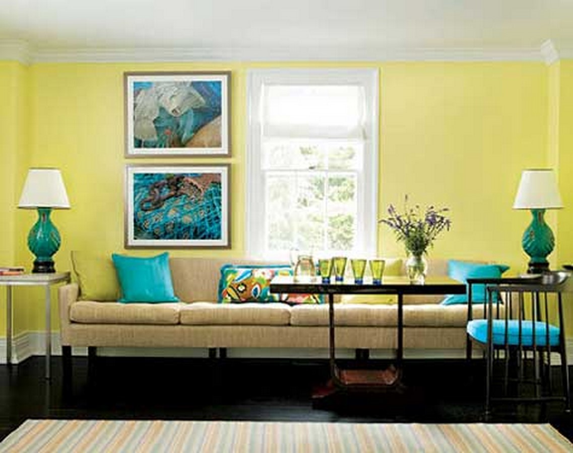 30 Examples of split complementary color scheme in Interiors - Sheet10