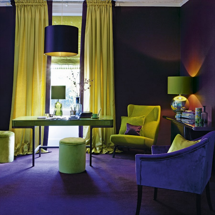 30 Examples of split complementary color scheme in Interiors - Sheet11