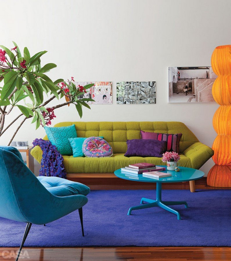 30 Examples of split complementary color scheme in Interiors - Sheet12