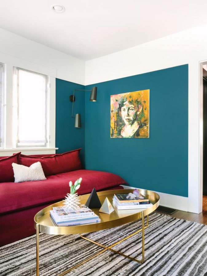 30 Examples of split complementary color scheme in Interiors - Sheet13