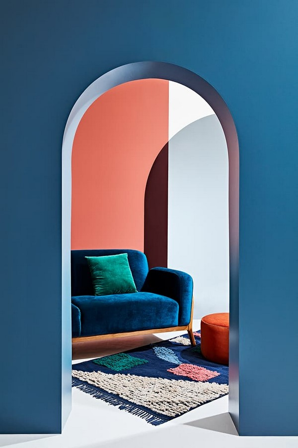 30 Examples of split complementary color scheme in Interiors - Sheet14