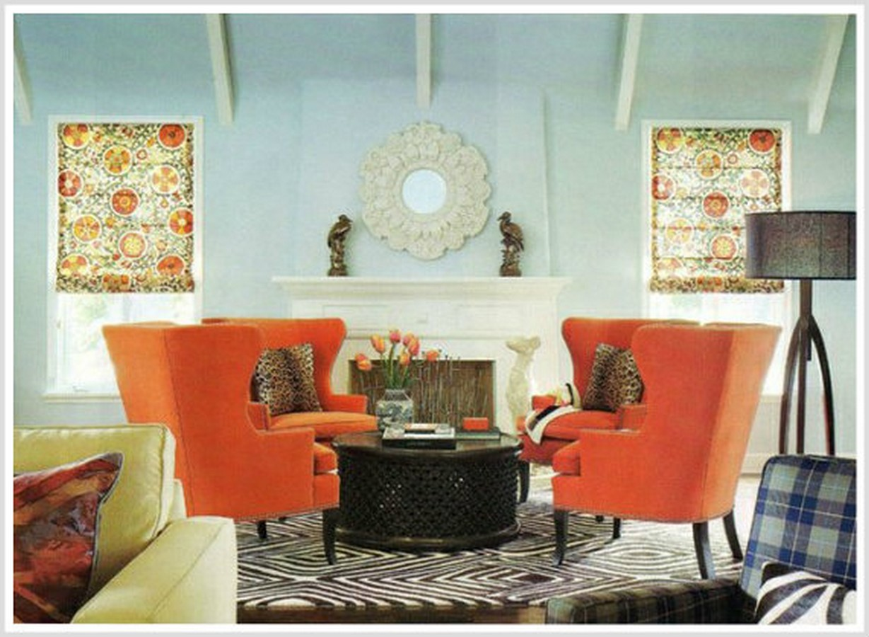 30 Examples of split complementary color scheme in Interiors - Sheet15