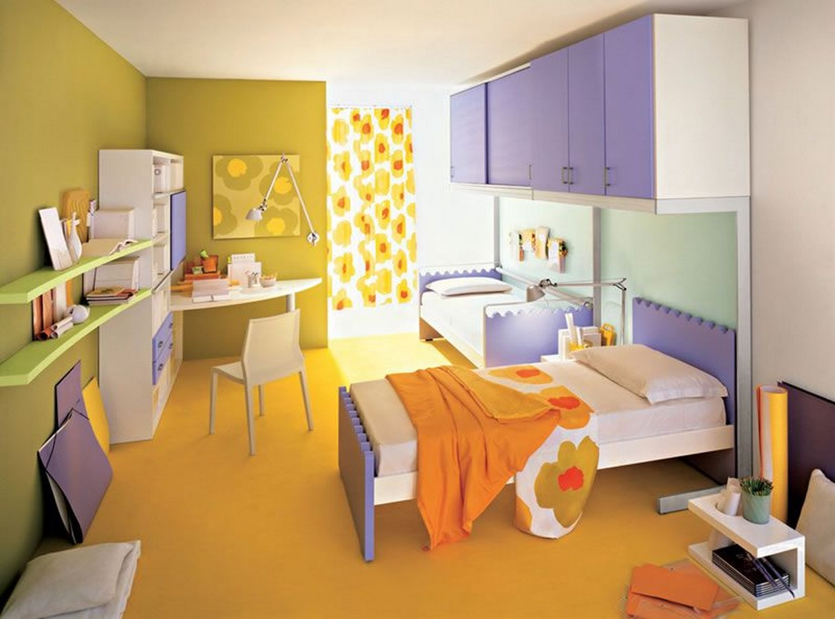 30 Examples of split complementary color scheme in Interiors - Sheet17