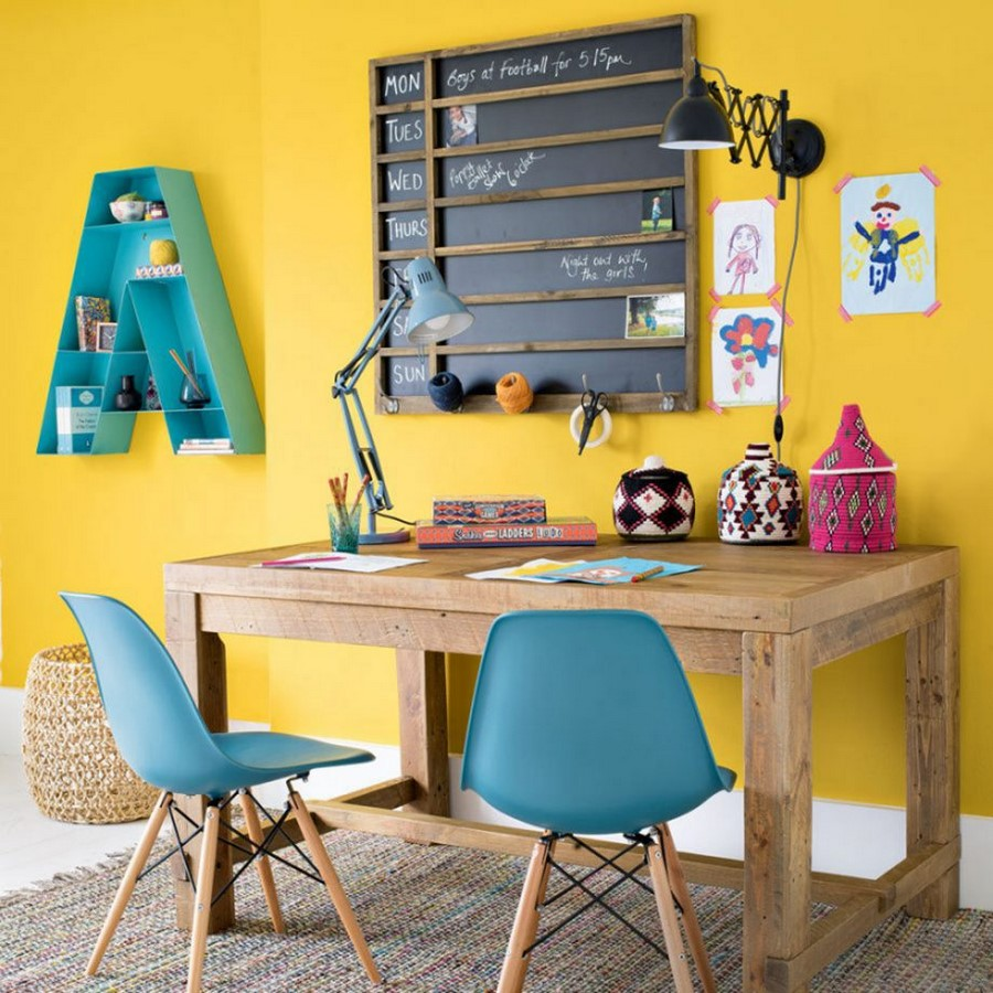30 Examples of split complementary color scheme in Interiors - Sheet20