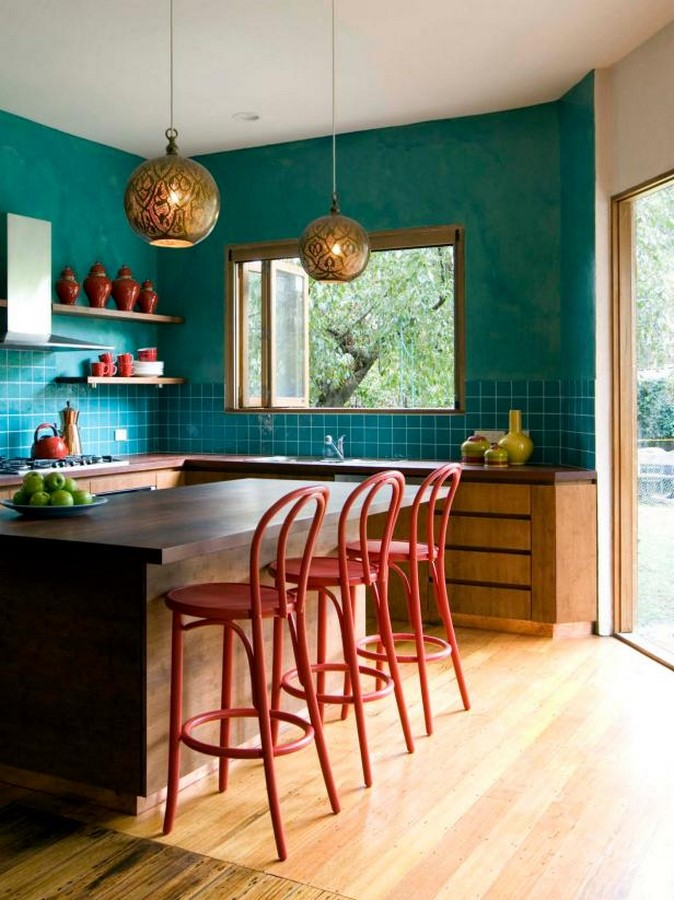 30 Examples of split complementary color scheme in Interiors - Sheet26