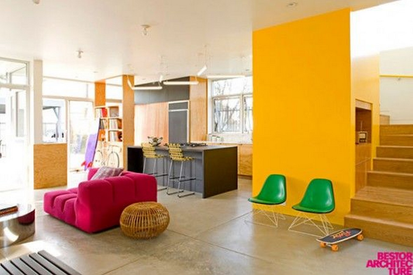 30 Examples of split complementary color scheme in Interiors - Sheet7