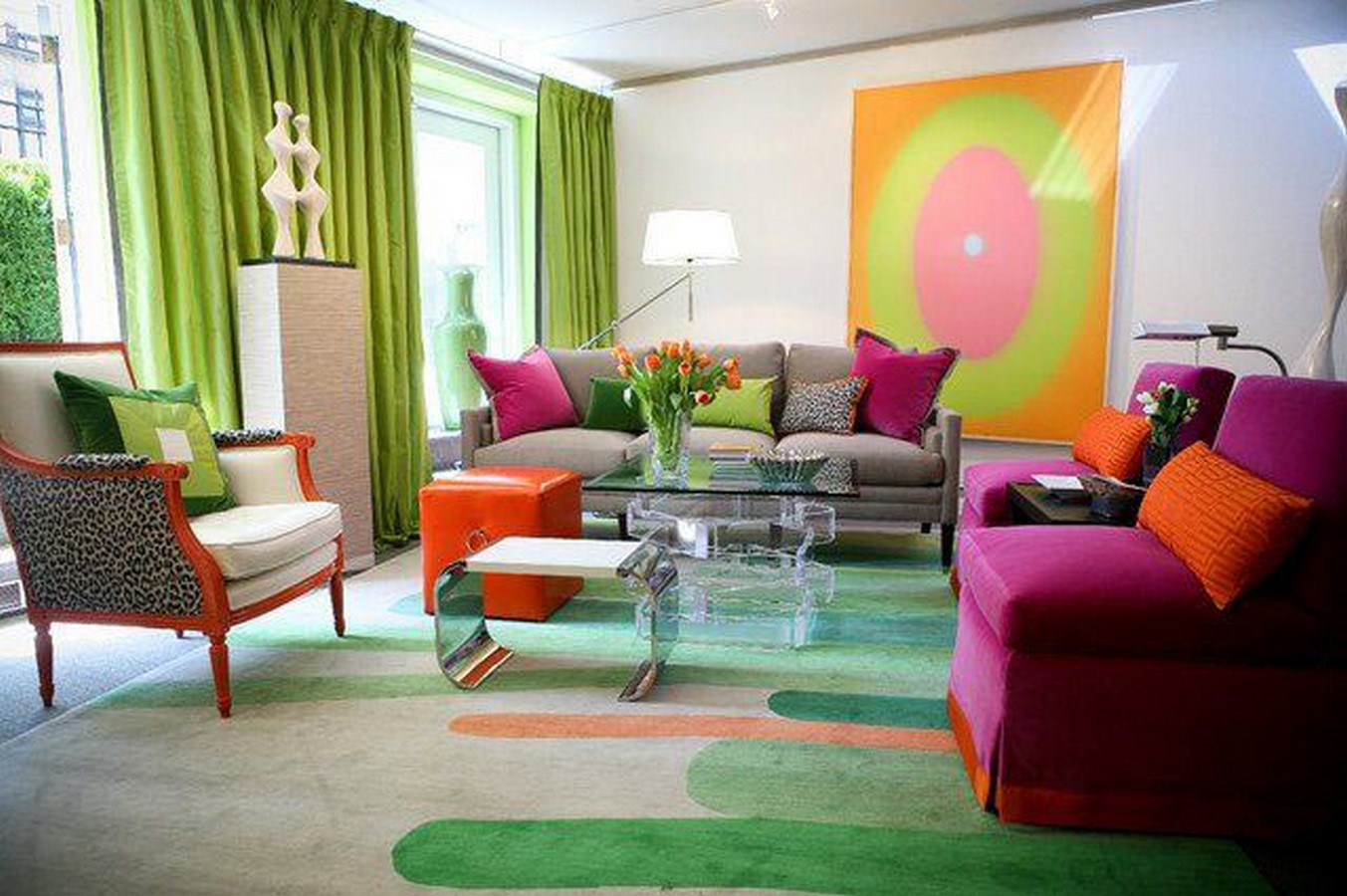 30 Examples of split complementary color scheme in Interiors - Sheet8