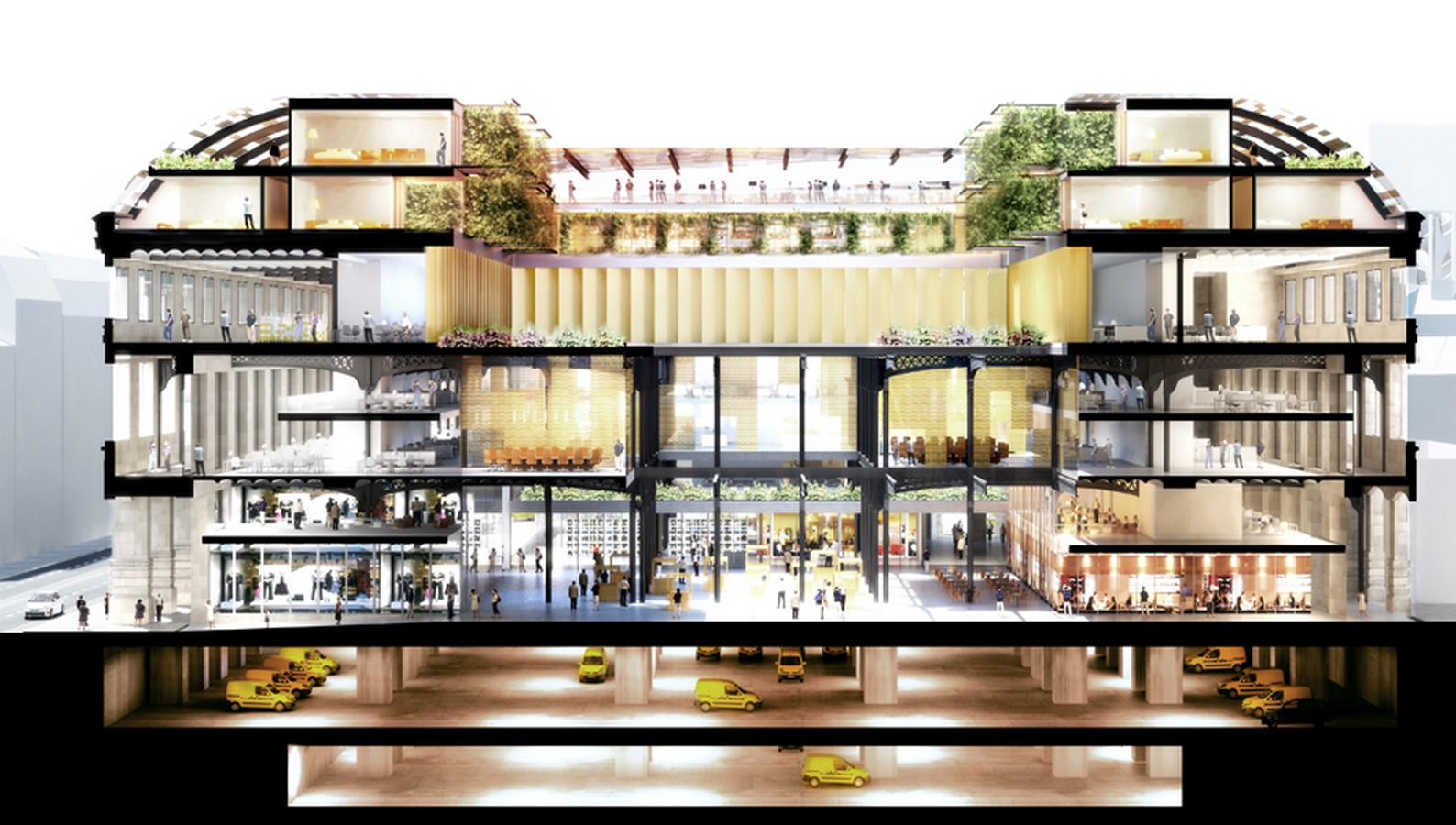 Paris' Industrial Post Office Building converted into A Mixed-Use Block by Dominique Perrault Architecture - Sheet6
