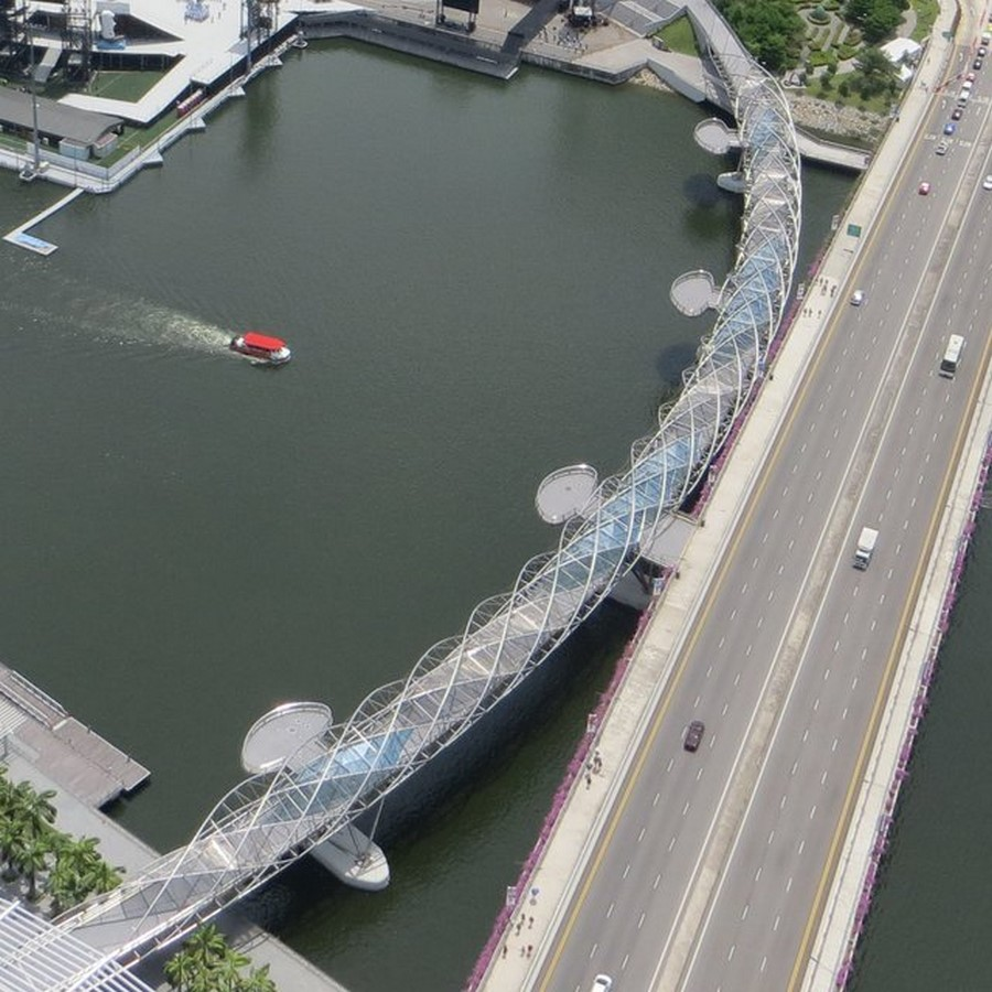 Helix Bridge by Architects 61: Inspired by DNA - Sheet1