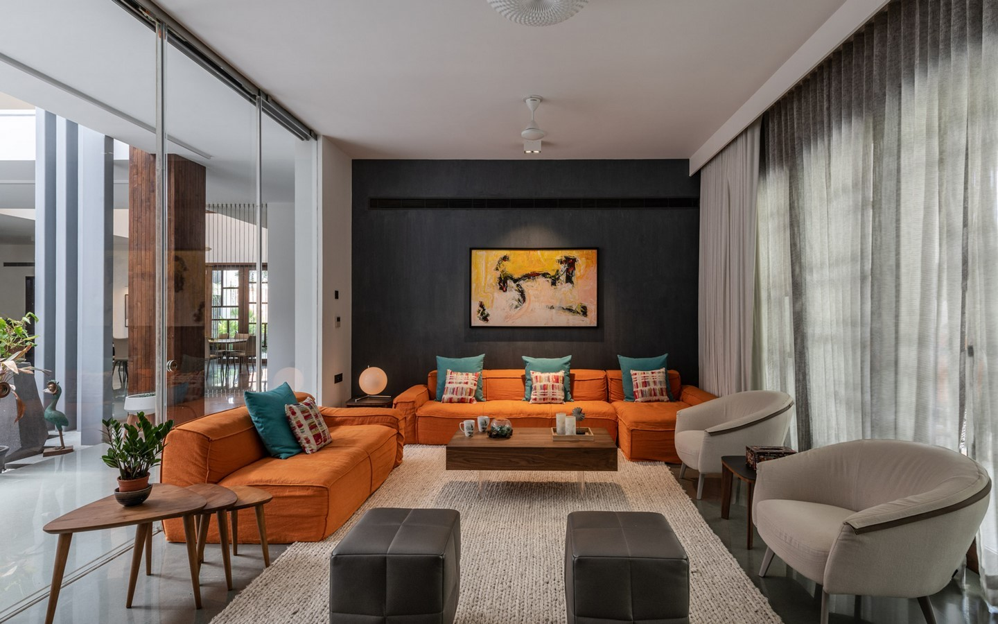 The Courtyard House by Associated Architects Pvt. Ltd - Sheet1