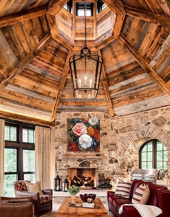 30 Examples of Rustic interiors for living rooms - Sheet13
