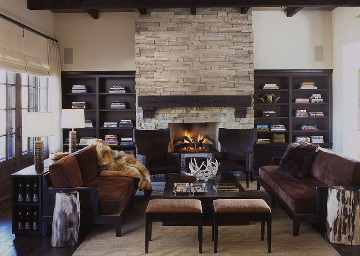 30 Examples of Rustic interiors for living rooms - Sheet15