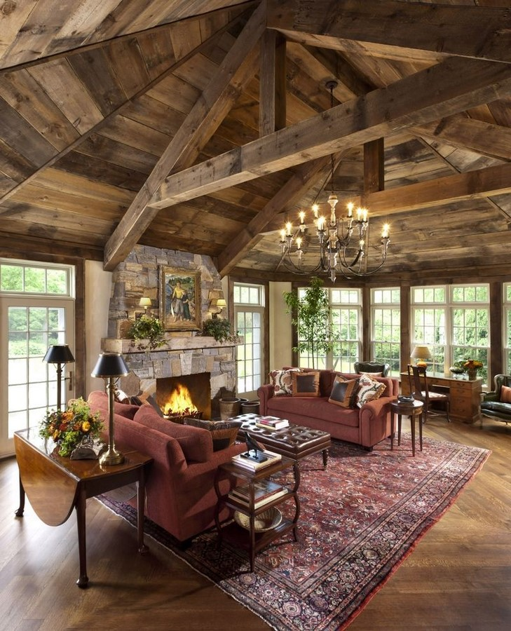 30 Examples of Rustic interiors for living rooms - Sheet20
