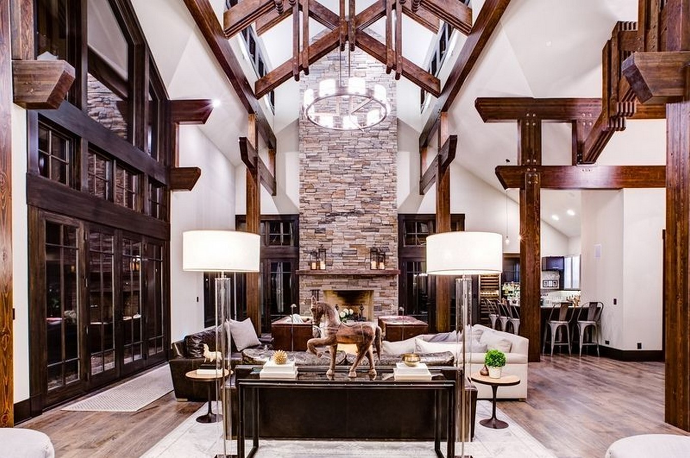 30 Examples of Rustic interiors for living rooms - Sheet21