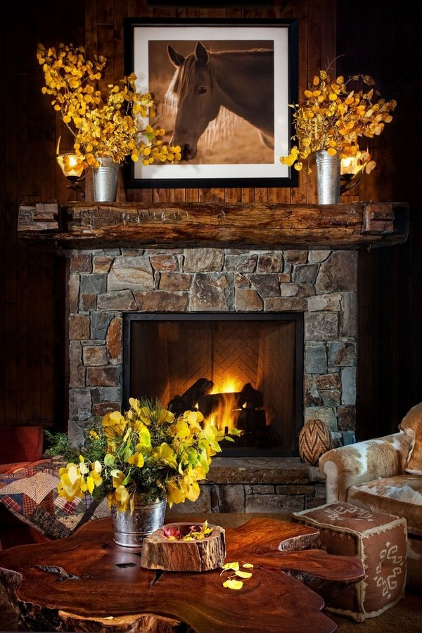 30 Examples of Rustic interiors for living rooms - Sheet24