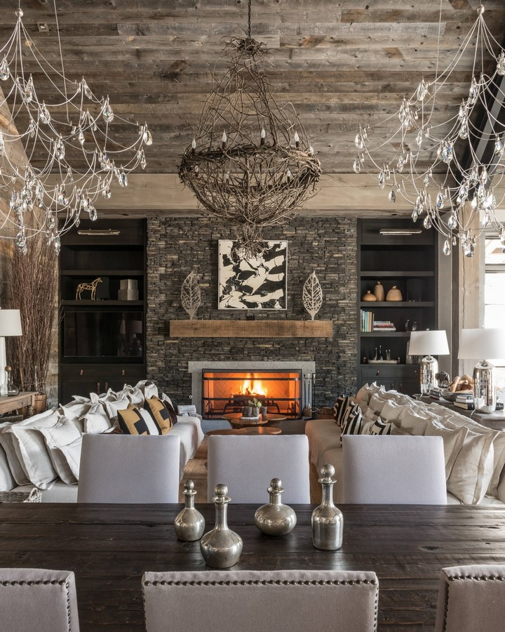 30 Examples of Rustic interiors for living rooms - Sheet27