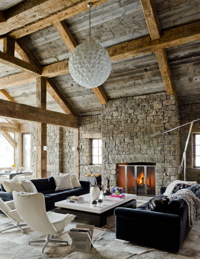 30 Examples of Rustic interiors for living rooms - Sheet28