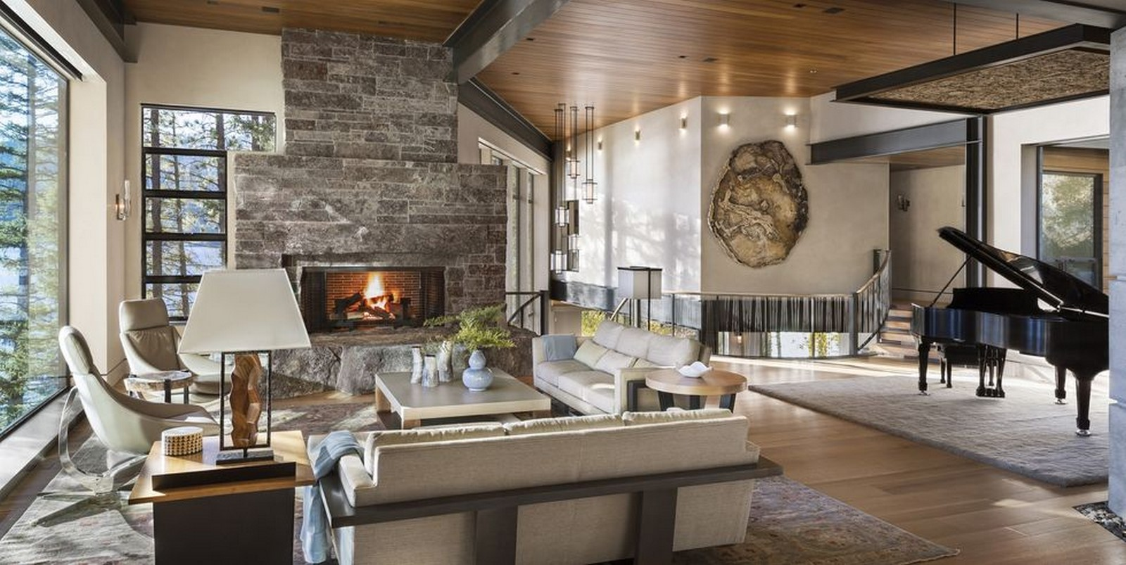 30 Examples of Rustic interiors for living rooms - Sheet4