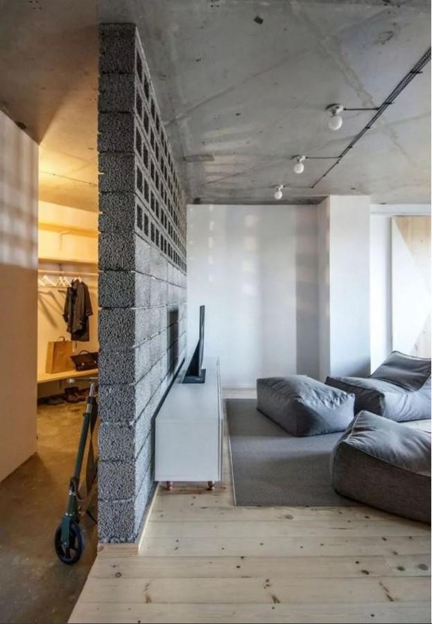 Concrete partition walls