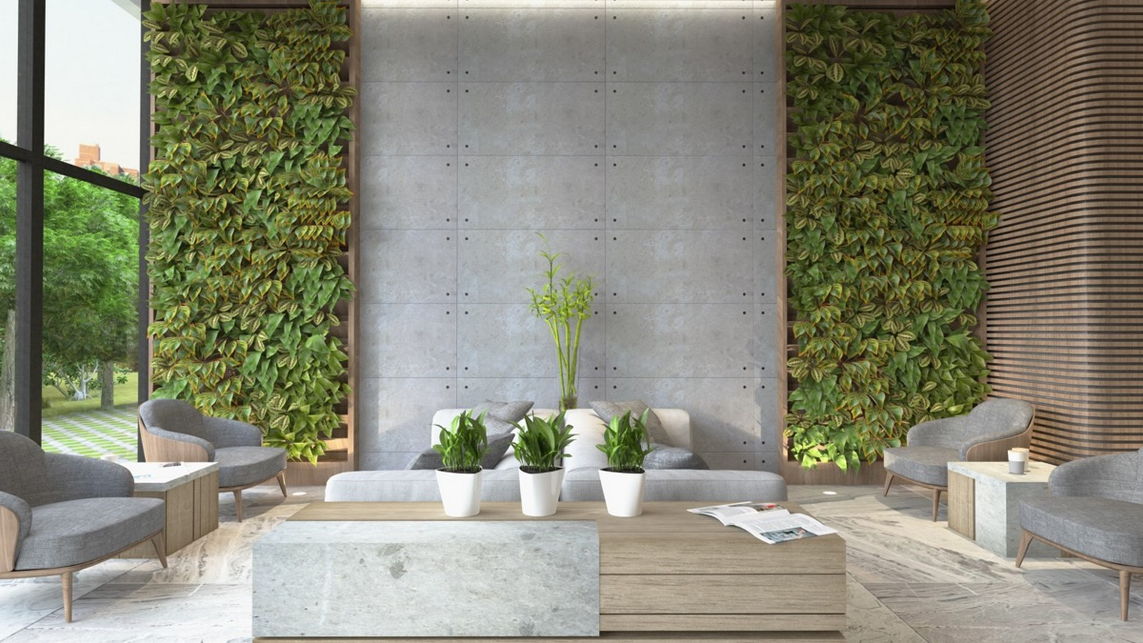 50 Living rooms enhanced by concrete - Sheet1